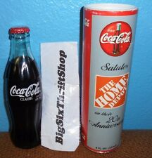 1999 HOME DEPOT 20TH ANNIVERSARY CELEBRATION 8 OZ GLASS COCA - COLA BOTTLE TUBE