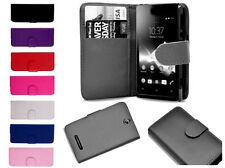 For Sony Xperia Magnetic Leather Book Flip Wallet Cover Pouch Case Card Slots UK