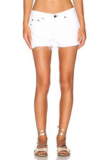 RAG AND BONE BRIGHT WHITE DENIM CUTOFF SHORTS W26 UK 8