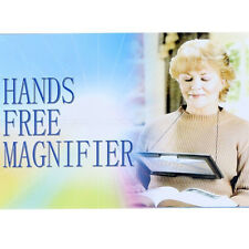 Large A4 Page Hands Free 3x Magnifying Glass Light LED Magnifier Reading Black