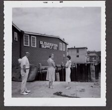 VINTAGE GLOUCESTER SUPPLY COMPANY FISHING STORE SIGN MASSACHUSETTS HARBOR PHOTO