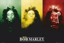 BOB MARLEY POSTER PRINT RASTA SMOKING GANJA MARIJUANA SMOKING WEED WALL ART