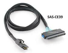 3ft 28AWG Internal Mini SAS (SFF-8087) M to SAS (SFF-8484) F Net Jacket Cable