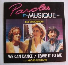 MICHEL LEGRAND  (SP 45T) PAROLES ET MUSIQUE Bof  DENEUVE / LAMBERT / ANCONINA