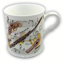 Flute Mug by Little Snoring - Music themed Gift - Musical Flute Mug