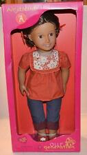 Our Generation Alejandra 18-Inch Doll with Crochet Shirt, Cuffed Blue Jeans, Red