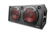 """ION ROAD WARRIOR 500w Rechargeable Stereo Bluetooth 2x10"""" Lighted Speaker System"""