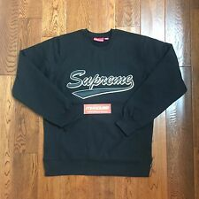 New Supreme Brush Script Crewneck Sweatshirt Sweater Top Fall Winter 2016 Size L