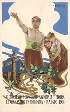 3792) BOLOGNA 1902 CONGRESSO NAZIONALE GINNASTICO ILLUSTRATORE DUDOVICH VG 1901.
