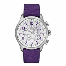 Versus by Versace Men's Chronograph Round Dial Watch Purple Bargain