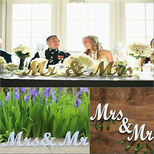 Mr and Mrs White Letters Sign Freestanding Top Table Wedding Decor Centerpiece
