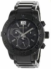 Invicta 0762 Men's Reserve  Chronograph Ion-Plated Stainless Steel Black Watch