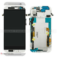 Silver HTC One M8 831C LCD Display Touch Screen Digitizer Glass+Frame Assembly