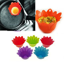 1Pc Flower Egg Poacher Pods Silicone Pan Cups Mould Breakfast Kitchen