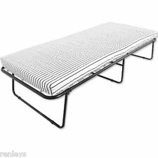 Folding Bed W/ Mattress Roll Away Guest Portable Sleeper Cot Pull Out Foam New