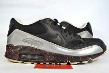 Nike Air Max 90 Leather BRED EURO PACK BLACK RED WHITE 302519-904 sz 9.5