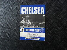 Chelsea v CSKA Sofia Nov 1970 Cup Winners Cup 2nd round 2nd Leg
