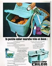 Publicité Advertising 1973 Machine à laver la petite Calor