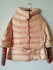 NEW MISSONI QUILTED DOWN PUFFER JACKET COAT KNITTED CUFFS  44 IT / M US