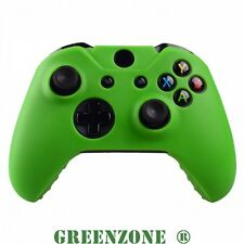 Green Soft Silicone Rubber Protective Skin Grip Cover for Xbox One Controller