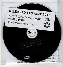 (EH928) In Fear Of Olive, Love's Grown Wild - 2012 DJ CD
