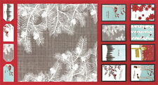 WINTER'S LANE FABRIC BLOCKS  & CRAFTS PANEL Moda Fabrics + FREE PATTERN
