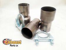 Mild Steel Custom Exhaust Adaptor Sleeve Joiner Connector Link Pipe Clamps Inc