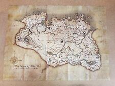 Il VECCHIO PERGAMENE V SKYRIM tela pergamena Stile Mappa