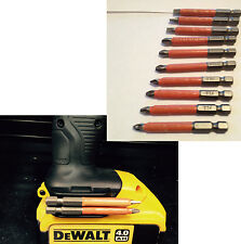 dewalt magnectic li ion Drill BIT HOLDER & torsion 10pc s2 non slip mixed bits
