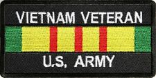 VIETNAM VETERAN US ARMY Embroidered Saying Military Biker Patch Emblem
