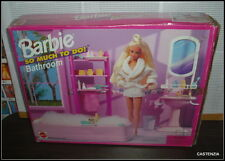 NRFB  VINTAGE 1995 MATTEL BARBIE DOLL SO MUCH TO DO BATHROOM PLAYSET FOR HOUSE