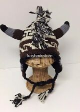 NEW Winter Egyption Chullo Mohawk Style Ear Flap Muff Ski Hat Beanie Cap Brown