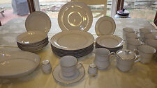 Fine China Dinnerware Set Bridal Brocade by Executive House service 8 46 piece
