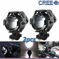 2x U5 CREE LED Lamp 15W Projector Lens Auxiliary Fog Light for Yamaha Fazer-F1