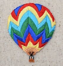 Iron On Embroidered Applique Patch Colorful Chevron Hot Air Balloon