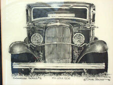 "HOT ROD ART   ""MY LITTLE RIDE""   Series #1 Pencil by Dave Irwin 1990"