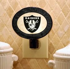 NFL OAKLAND RAIDERS ART GLASS NIGHTLIGHT