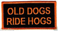 "MOTORCYCLE PATCH BIKER TRIKE 4"" x 2"" OLD DOGS RIDE HOGS"