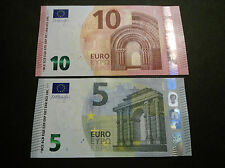 Greece, Banknote - UNC - set  5-10 Euro Y - Draghi - Europa series Second
