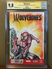 CGC 9.8 SS Amazing Spiderman #1 Sketch Cover Spiderman wolverine Front & Back