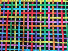 Measure Twice Sewing Notions Needles & Pins Benartex Cotton Quilt Fabric #3015