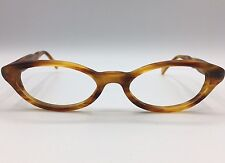 Face A Face Brown & Amber Acetate Cateye Eyeglass Frames GIPSY 52-18-145 France