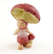 "3"" Red Shroom Baby Fairy Garden Terrarium Statue Figure Miniature Dollhouse"