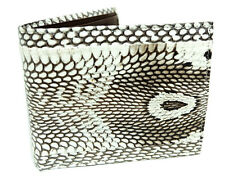 100% COBRA HOOD SNAKE SKIN LEATHER MEN Bi-Fold COIN POCKET WALLET HANDMADE NEW*