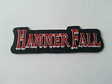 HEAVY METAL PUNK ROCK MUSIC SEW / IRON ON PATCH:- HAMMER FALL (a) PATCH No. 0026