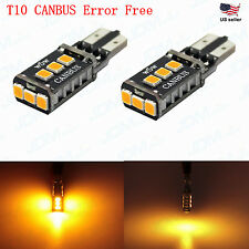 JDM ASTAR 2xT10 Amber PX SMD CANBUS Error Free LED Lights Bulbs 194 168 2825 W5W