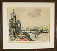 "Frank Will (American, 1900-1951) Color Etching Aquatint  ""Notre Dame De Paris"""