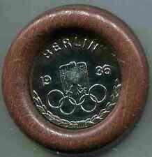 Olympia 1936:Koppelschlossauflage,gerahmt.Silbern.7 cm. 1 Stück
