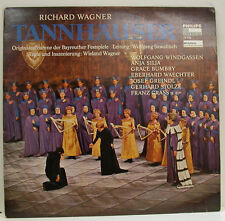 """WAGNER TANNHÄUSER WINDGASSEN SILJA BUMBRY WOLFGANG SAWALLISCH 12"""" LP (d969)"""