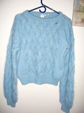 Vintage blue mohair blend sweater made in Italy S M